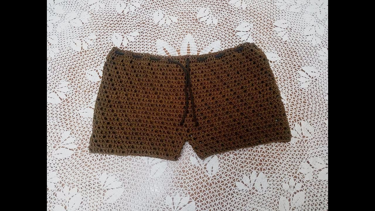scarpe di separazione 01782 c917a Pantaloncino semplice da spiaggia all'uncinetto