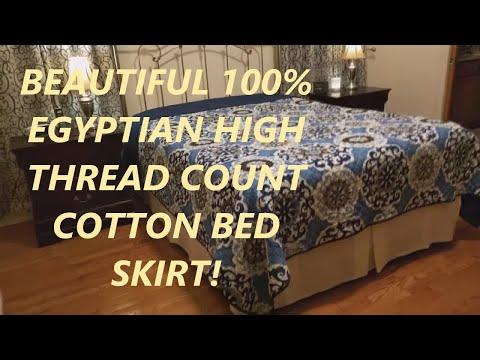 100% Egyptian Cotton 500 Thread Count Solid Queen Size Bed Skirt