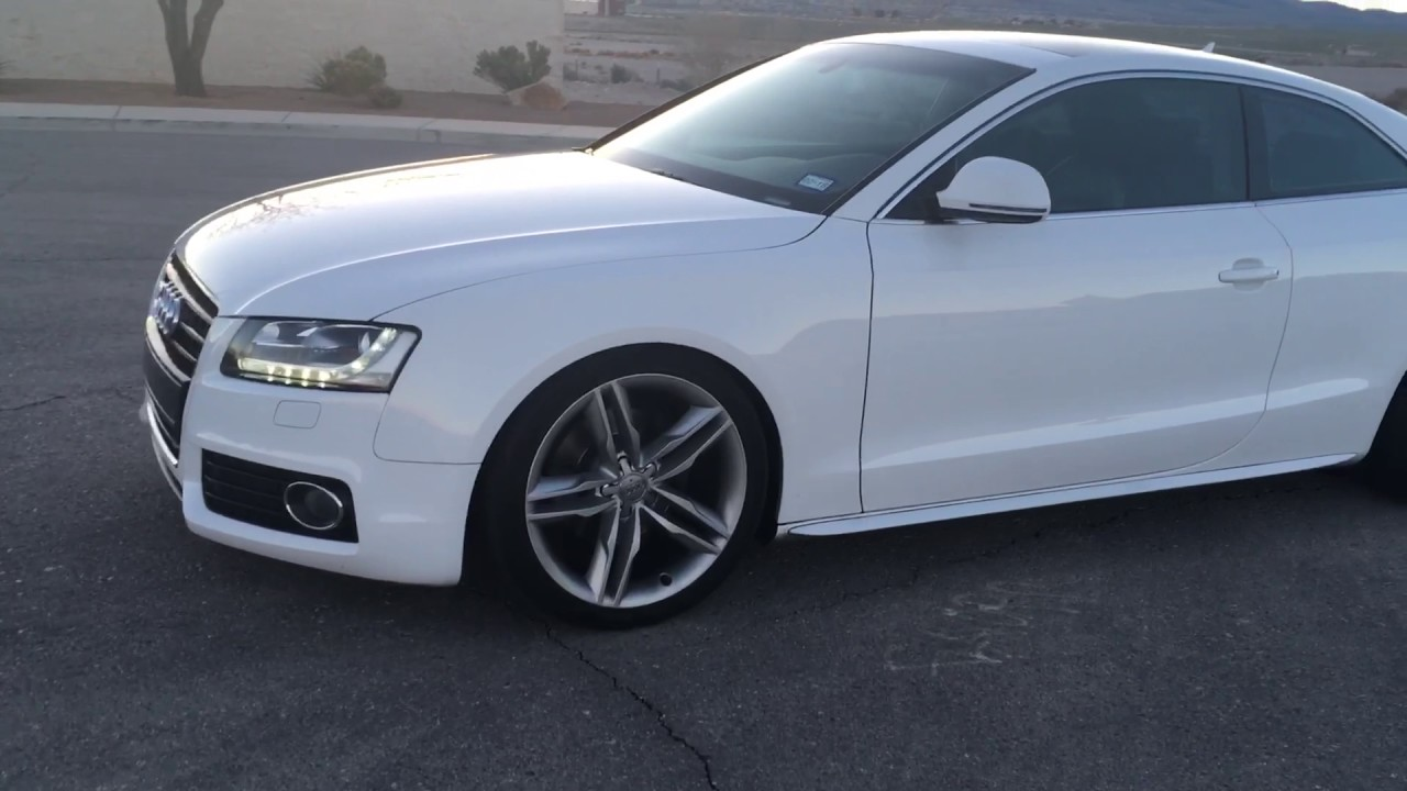 Audi A5 H&R Super Sport springs/20mm spacers - YouTube