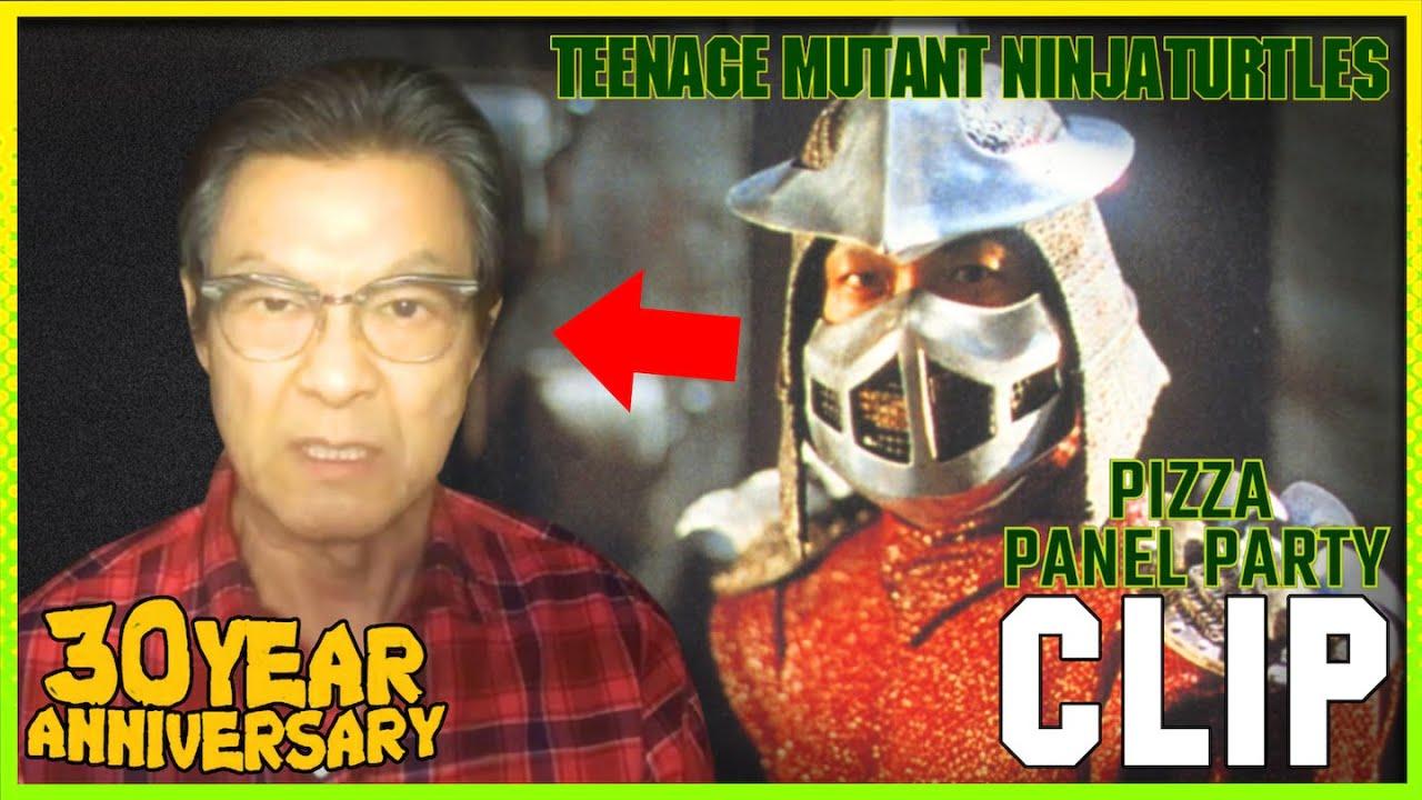 Shredder From Teenage Mutant Ninja Turtles 1990 Movie Cast Reunion Clip Youtube