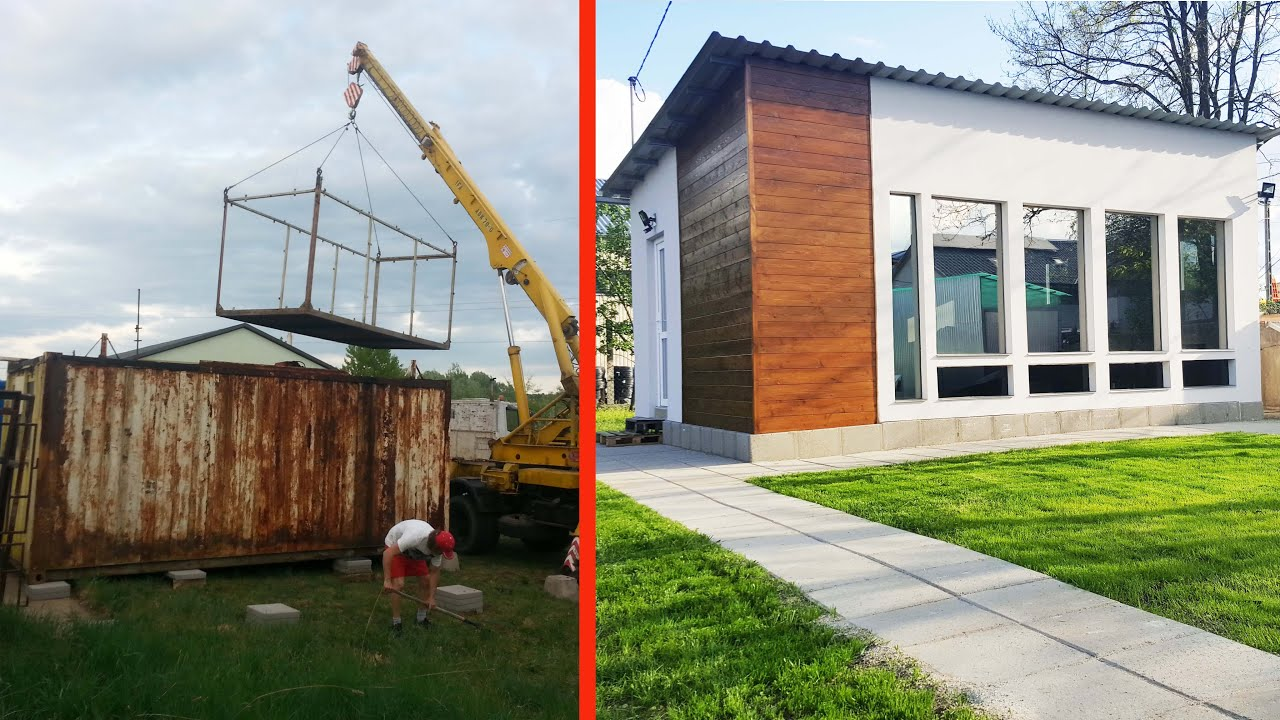 shipping container house build for container office - youtube