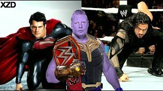 WWE Superstars as Superheroes Marvel Avengers & DC!!