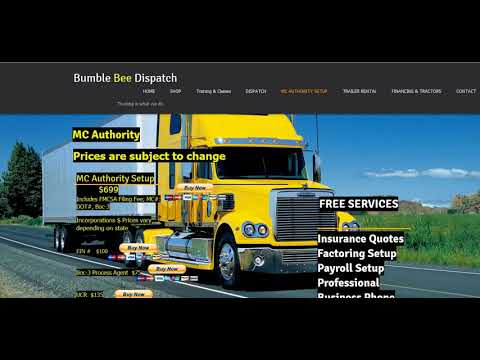 CDL Owner Operator How To Start Your Own Trucking or Hotshot Company  www BumbleBeeDispatch com