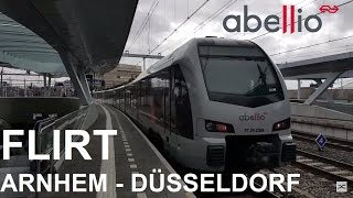NS Abellio FLIRT RE 19 van Arnhem Centraal naar Düsseldorf Ha…