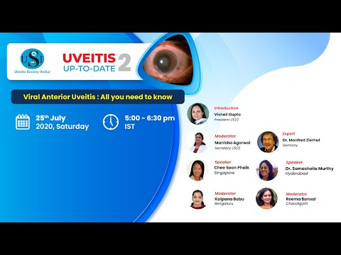 Viral Anterior Uveitis : All you need to know  | Uveitis Up-to-date 2 | 25th July, 2020