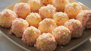 Рафаэлло из крабовых палочек и сыра/ Сырные шарики/ Cheese balls / Raffaello