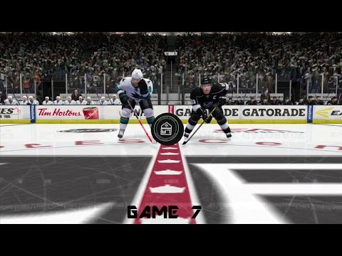 Sharks vs  Kings Game 7! (2016 NHL Gaming Playoffs)
