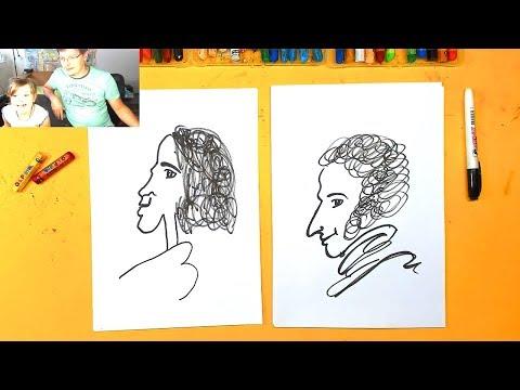 Как нарисовать пушкина карандашом