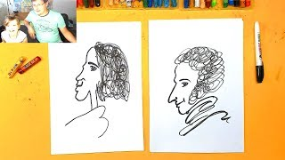 Мы любим ПУШКИНА / урок рисования для детей