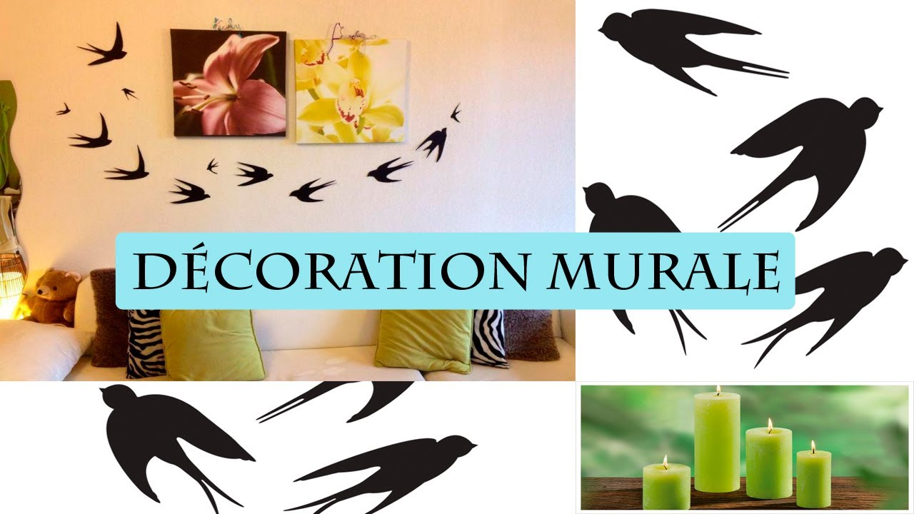 Diy d coration murale hirondelle facile youtube for Decoration murale art deco