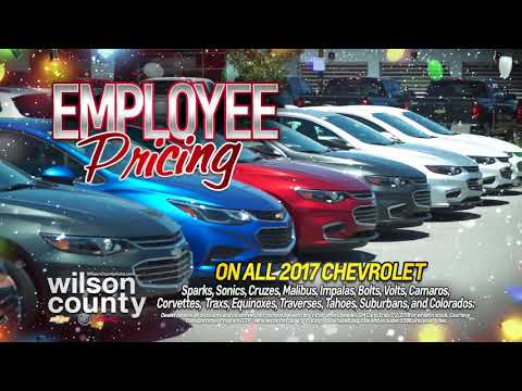 Chevy Employee Pricing for Everyone at Wilson County Chevrolet in Lebanon, TN