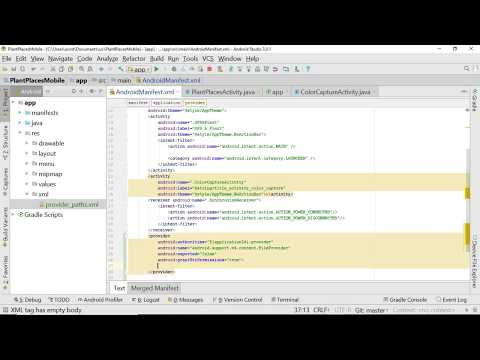 Create A FileProvider And Provider Path XML In Android