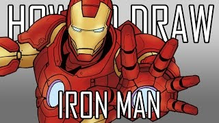 How To Draw Iron Man - Quick Simple Easy Steps For Beginners 11