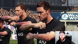 Rugby Player Plays RUGBY CHALLENGE 3 on PS4 For The First Time! (NEW ZEALAND vs U.S.A)