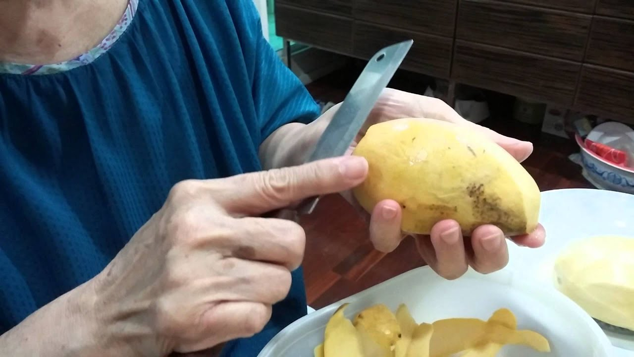 How To Peel Thai Mango In Thai Style