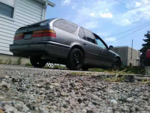 1991 Honda Accord F22a1 2 14 Turbo Muffler Exhaust Youtube