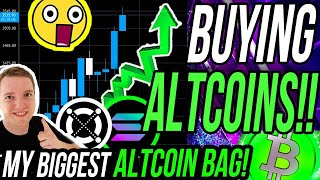I'M BUYING THESE ALTCOINS!! BITCOIN BULLISH BUT ALTCOINS CHANGE LIVES!! MY 100X ALTCOIN PORTFOLIO!!!