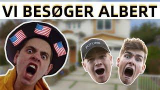 JEPPE OG JEG BESØGER ALBERT I USA!! Vlog 1