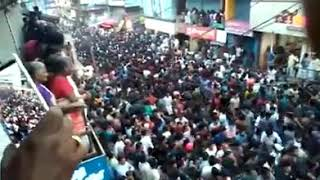 Crowd giving way to Ambulance within seconds in Palakkad, Kerala