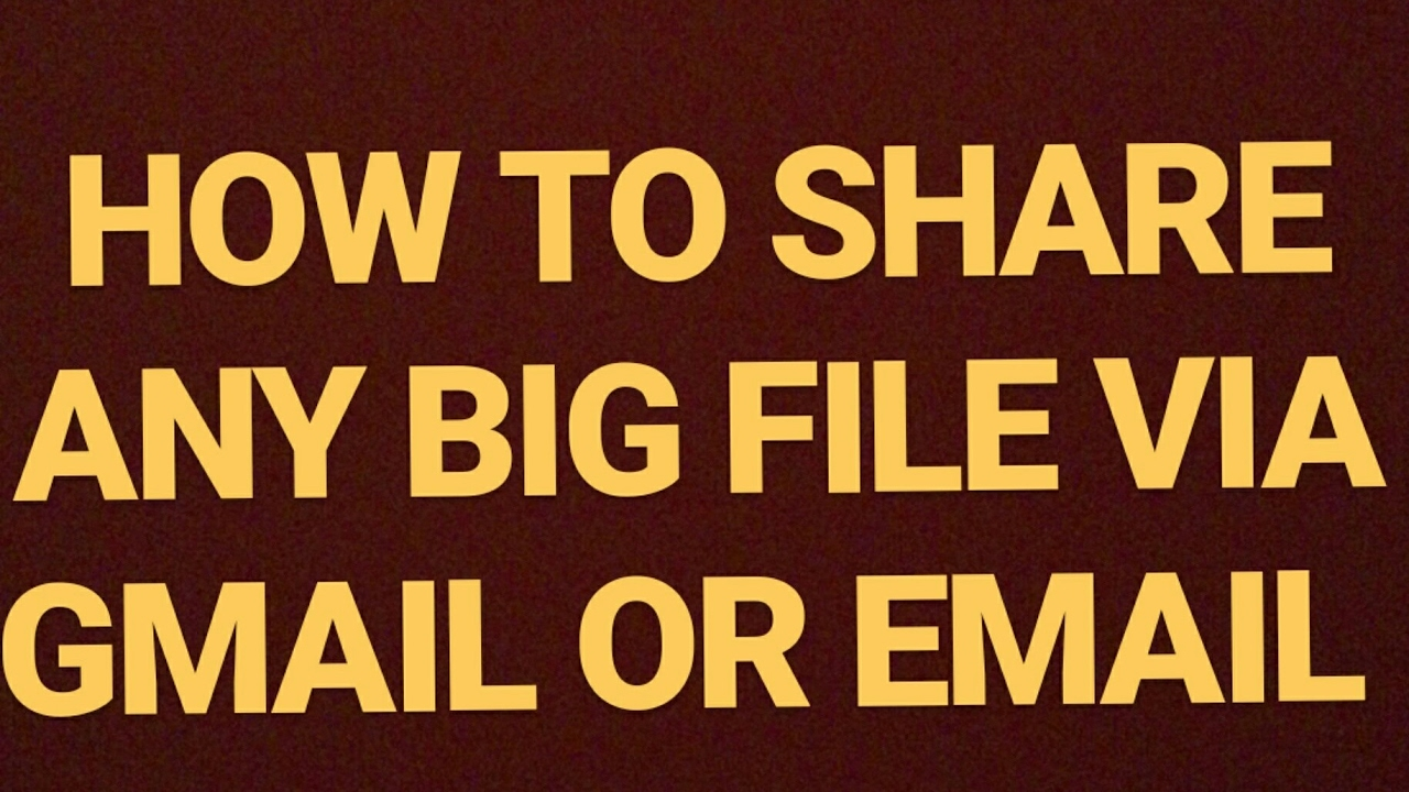 how to send large files
