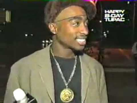 Tupac Laughs At Fight In Interview