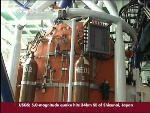 Chinese saturation divers can reach as deep as 300 meters in sea