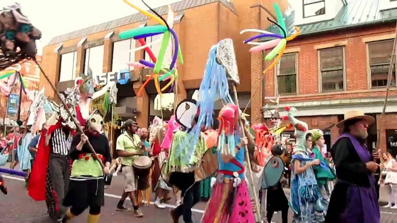 athens halloween parade - ohio university 2016 - youtube