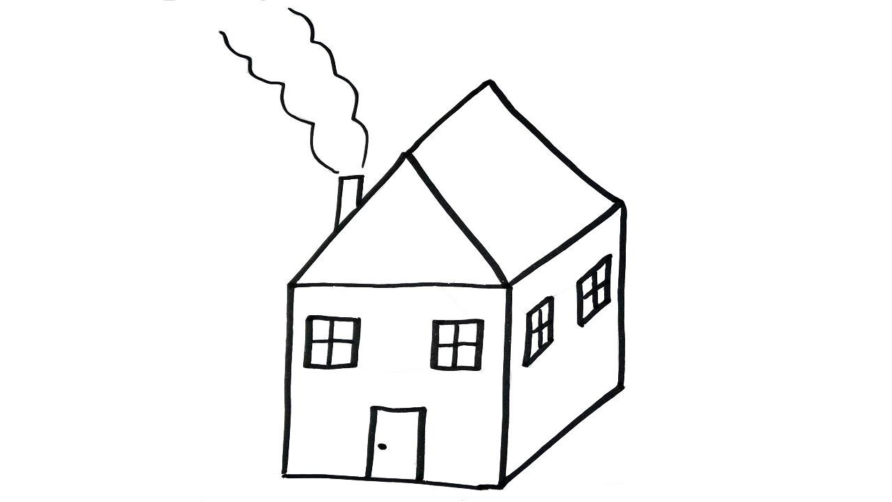 How To Draw a House  VERY EASY For Kids  YouTube