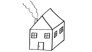 How To Draw a House - VERY EASY For Kids