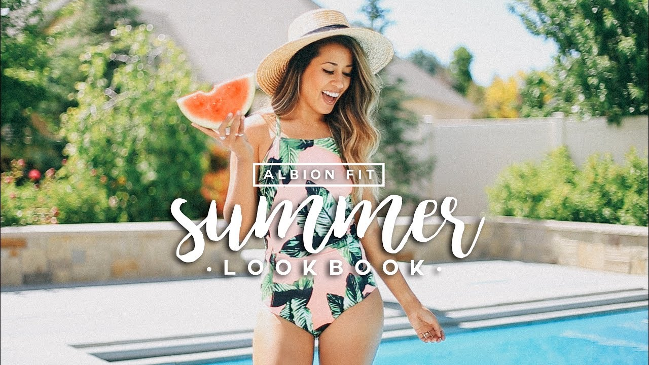 fa1ee9970a4c7 SUMMER LOOKBOOK x Albion Fit Swimwear | Ariel Hamilton - YouTube