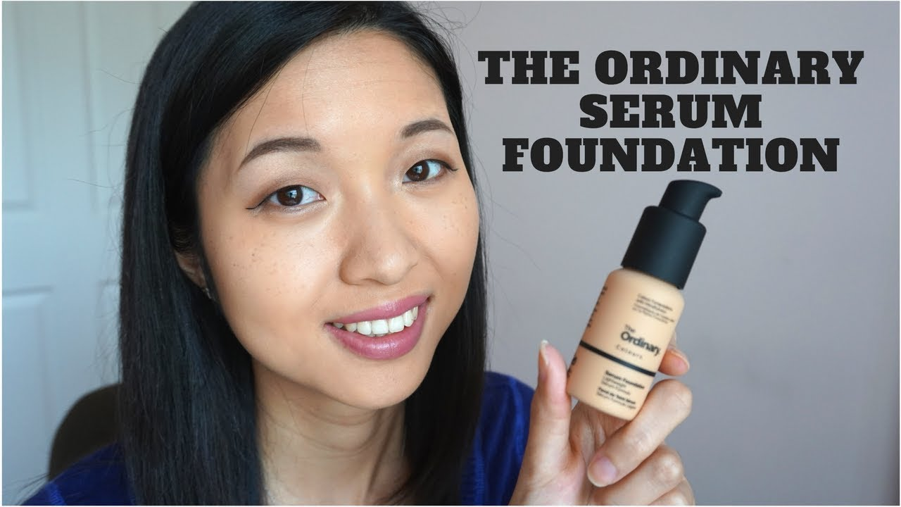 First Impression The Ordinary Serum Foundation Youtube