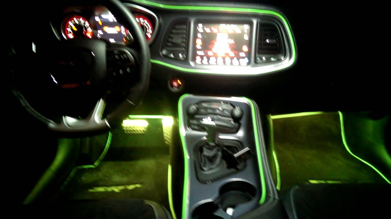 2015 challenger srt interior lighting youtube. Black Bedroom Furniture Sets. Home Design Ideas