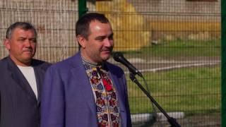 Виступ президента ФФУ Андрія Павелка на відкритті футбольного майданчика