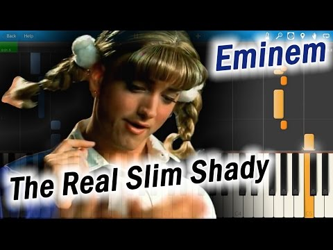 Eminem - The Real Slim Shady [Piano Tutorial] Synthesia