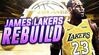 23 TO LA! LEBRON JAMES LAKERS REBUILD! NBA 2K18