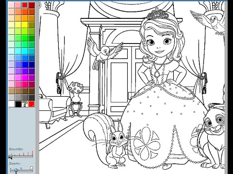 - Sofia The First Coloring Pages For Kids - Sofia The First Coloring Pages  Games - YouTube