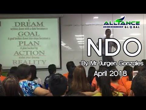 NDO by Mr Jurgen Gonzales April 2018