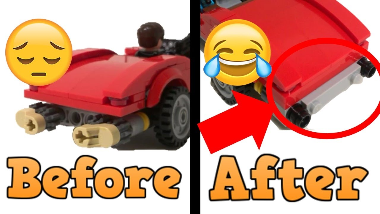 How to Modify LEGO 76077 Coulson Lola Car- Fix the Back ...