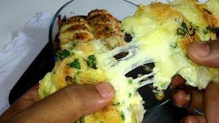 Faça Pão de Alho Com Requeijão e Queijo Usando Pão Amanhecido