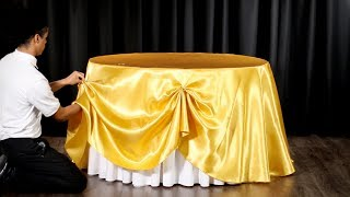 How to Easily Swag a Tablecloth (D.I.Y. Table Swag)