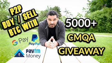 Paxful - How To Buy BTC With Gift Cards, Paytm, Paypal | 5000+ CMQA Giveaway 🙇💞 Paxful Hindi