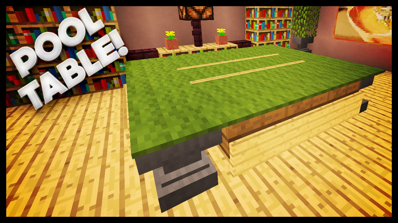Minecraft   How To Build A Pool Table   YouTube