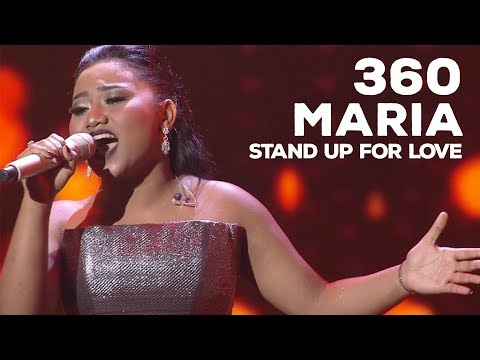 "Maria - Stand Up For Love (Destiny Child's)"" 360 INDONESIAN IDOL EXPERIENCE"