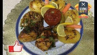 Sobada dadlı toyuq yeməyi (fırında nefis tavuk) (курица в духовке вкусно)