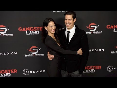 "Sean Faris and Cherie Daly ""Gangster Land"" Premiere Red Carpet"