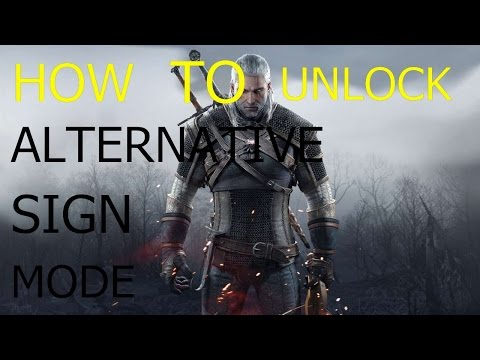 The Witcher 3  Wild Hunt How To Unlock Alternative Sign Mode