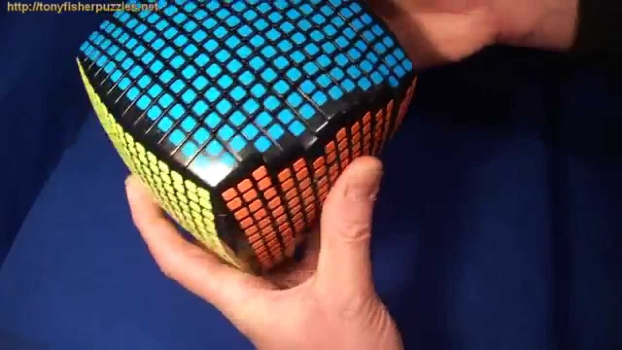 Pseudo 15x15x15 RUBIK'S CUBE Puzzle (with square stickers) (15x15) - YouTube