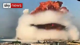 The moment of huge beirut explosion was caught on camera by social media users.read latest situation in #beirut: https://trib.al/tnjh3g6subscr...
