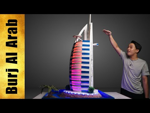 WOW! Most Luxurious Burj Al Arab Mini Hotel Model  - Making