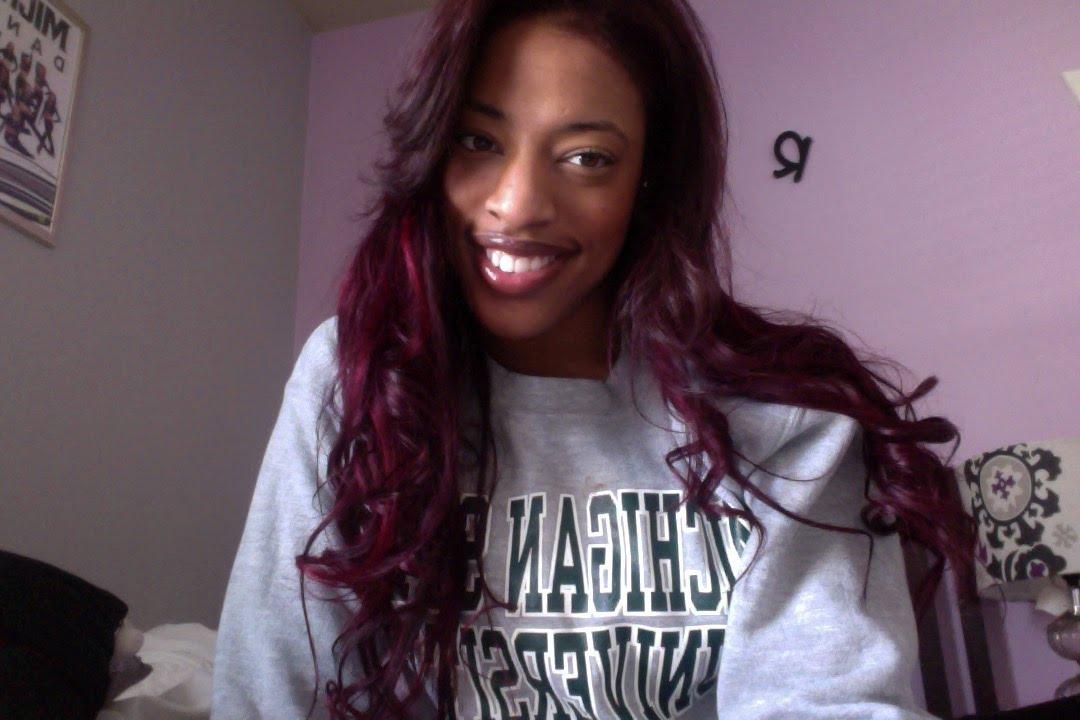Dying Dark Brown Hair To Dark Redburgundy Hair Youtube